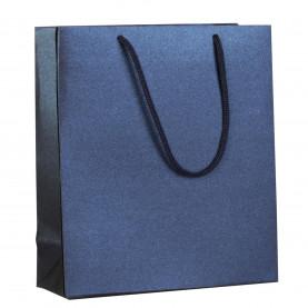 Пакет бумажный «Блеск», синий