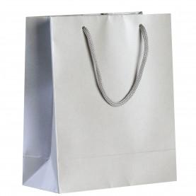 Пакет бумажный «Блеск», серебристый