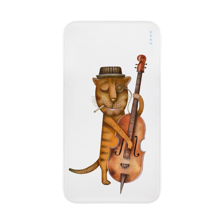 Принт «Кот и виолончель»