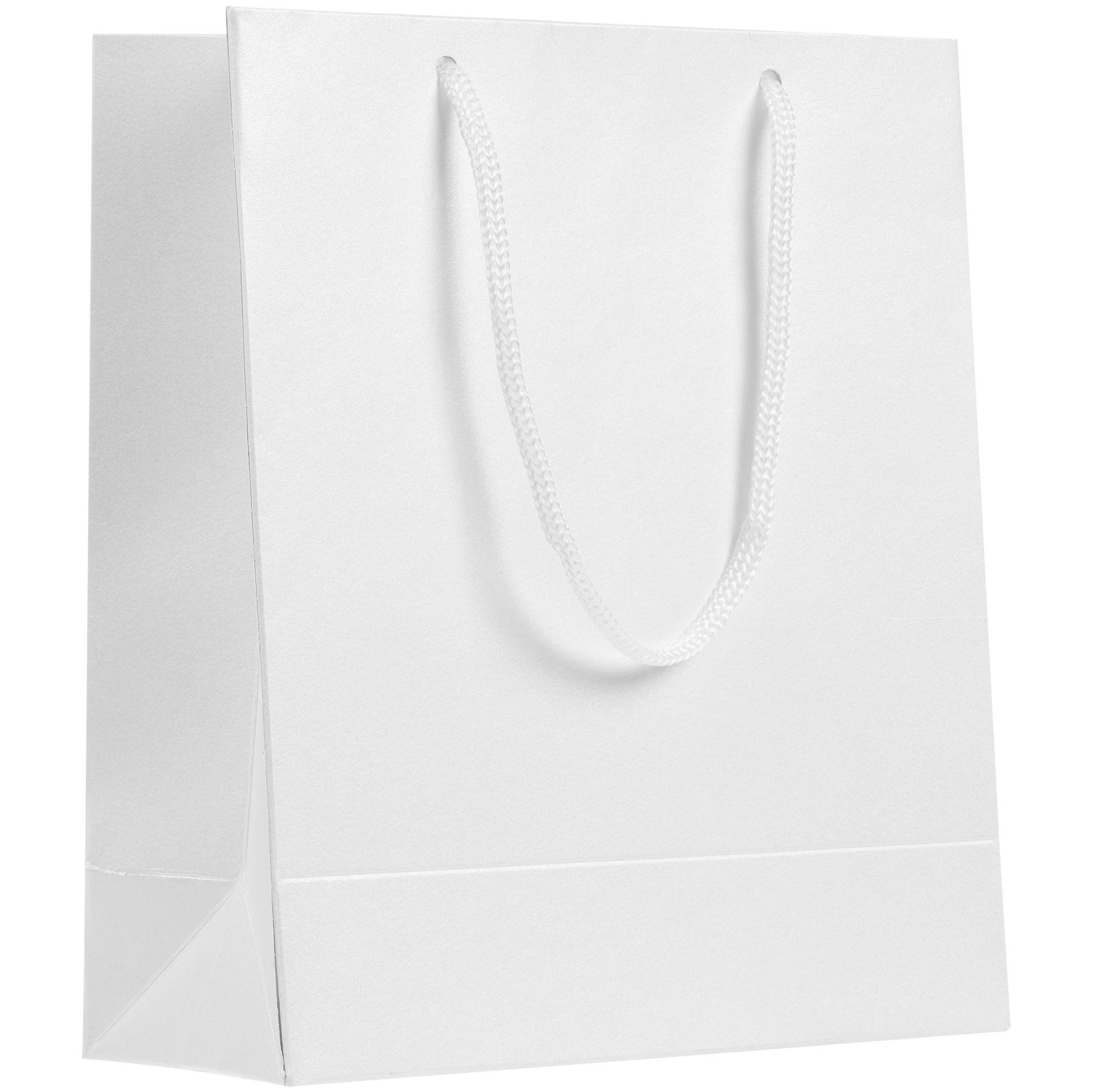 Пакет бумажный «Блеск», белый